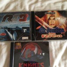 Videojuegos y Consolas: LOTE JUEGOS PC ANTIGUOS-RS3,LA SOMBRA SOBRE RIVA,KNIGHT'S CHASE. Lote 130511402