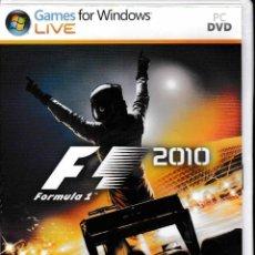 Videojuegos y Consolas: F1 2010 PC. GAMES FOR WINDOWS. Lote 132932410