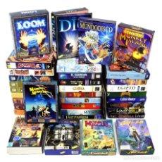 Videojuegos y Consolas: LOTE 42 JUEGOS PC SOLO CAJAS VINTAGE MONKEY ISLAND ERBE LOOM DIG MANIAC MANSION DAY OF THE TENTACLE. Lote 132980210