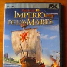Videojuegos y Consolas: PATRICIAN 3 IMPERIO DE LOS MARES (PC DVD-ROM). Lote 133817914