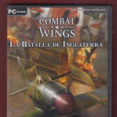 Videojuegos y Consolas: PC CD-ROM, COMBAT - WINGS. LA BATALLA DE INGLATERRA. DVD33. Lote 133904754