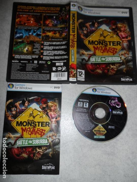 PC MONSTER MADNESS BATTLE FOR SUBURBIA PAL ESP COMPLETO (Juguetes - Videojuegos y Consolas - PC)