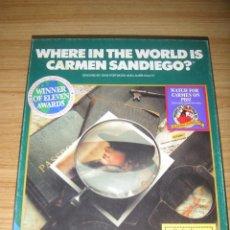 Videojuegos y Consolas: JUEGO IBM WHERE IN THE WORLD IS CARMEN SANDIEGO? (1993) 3 DISKETTES - EN INGLÉS. Lote 135375138