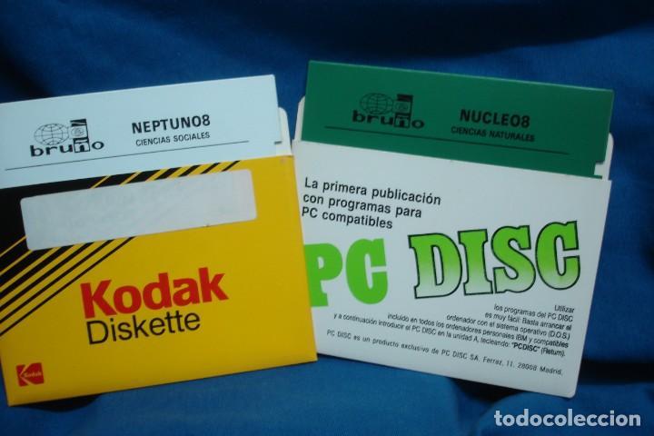 ANTIGUOS DISCOS DE 5 1/4 DE EDITORIAL BRUÑO - 2 UNIDADES (Juguetes - Videojuegos y Consolas - PC)