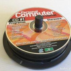 Videojuegos y Consolas: TARRINA CON 17 CDS DE PROGRAMAS VARIADOS – PERSONAL COMPUTER – PC TODAY – COMPUTER IDEA. Lote 136403474