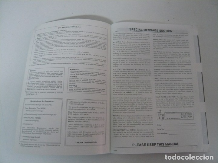 Yamaha MU80 Midi Tone Generator / IBM PC / Retro Vintage / En buen estado