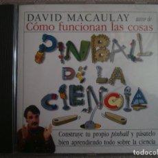 Videojuegos y Consolas: PC CD DAVID MACAULAY PINBALL DE LA CIENCIA FISICA CONTRUYE TU PROPIO PINBALL 120G. Lote 138892774
