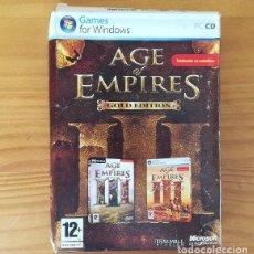 Videojuegos y Consolas: AGE OF EMPIRES III GOLD EDITION -PC CD-ROM- EN CAJA DE CARTON. Lote 139718206