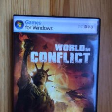 Videojuegos y Consolas: WORLD IN CONFLICT PC DVD GAMES FOR WINDOWS SIERRA. Lote 142063814