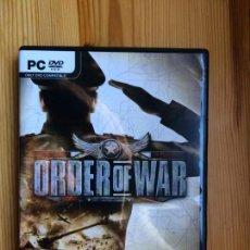 Videojuegos y Consolas: ORDER OF WAR PC DVD WARGAMING NET SQUARE ENIX. Lote 142064166