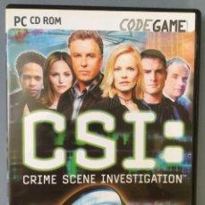 Videojuegos y Consolas: JUEGO PARA PC CSI: CRIME SCENE INVESTIGACIÓN, DOBLADO POR LOS ACTORES OFICIALES DE LA SERIE. Lote 142421834