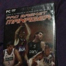 Videojuegos y Consolas: MANAGER PRO BASKET – PC DVD ROM – PRECINTADO. Lote 143110422