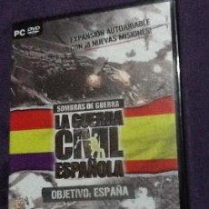 Videojuegos y Consolas: LA GUERRA CIVIL ESPAÑOLA EXPANSION - PAL/SPA PC PRECINTADO. Lote 143110926