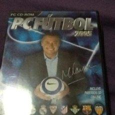 Videojuegos y Consolas: PC FUTBOL 2005 PC CD-ROM. Lote 143179950