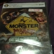 Videojuegos y Consolas: PC MONSTER MADNESS BATTLE FOR SUBURBIA PAL ESP NUEVO PRECINTADO. Lote 143539654
