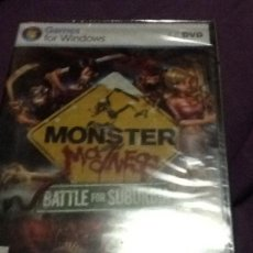 Videojuegos y Consolas: PC MONSTER MADNESS BATTLE FOR SUBURBIA PAL ESP NUEVO PRECINTADO. Lote 143539690