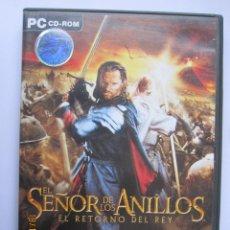 Videojuegos y Consolas: JUEGO PARA PC 'EL SEÑOR DE LOS ANILLOS, EL RETORNO EL REY'. Lote 143605454