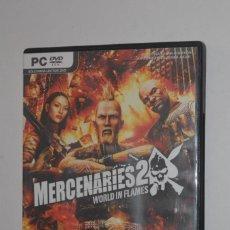 Videojuegos y Consolas: JUEGO PC MERCENARIES 2 WORLD IN FLAMES 2008 PANDEMIC ELECTRONIC ARTS ACCIÓN AVENTURA. Lote 144576402