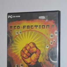 Videojuegos y Consolas: JUEGO PC RED FACTION II 2003 THQ SUBJETIVO VERSIÓN ESPAÑOL ITALIANO COMPLETAR MISIÓN ANTI CORRUPTOS. Lote 144576890