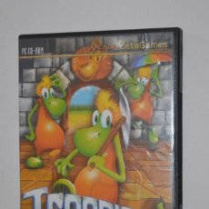 Videojuegos y Consolas: JUEGO PC TROONIES CASTLE ROCK 2004 EDICIONES CATARO ZETA GAMES TIPO LEMMINGS HABILIDAD E INGENIO. Lote 144596494
