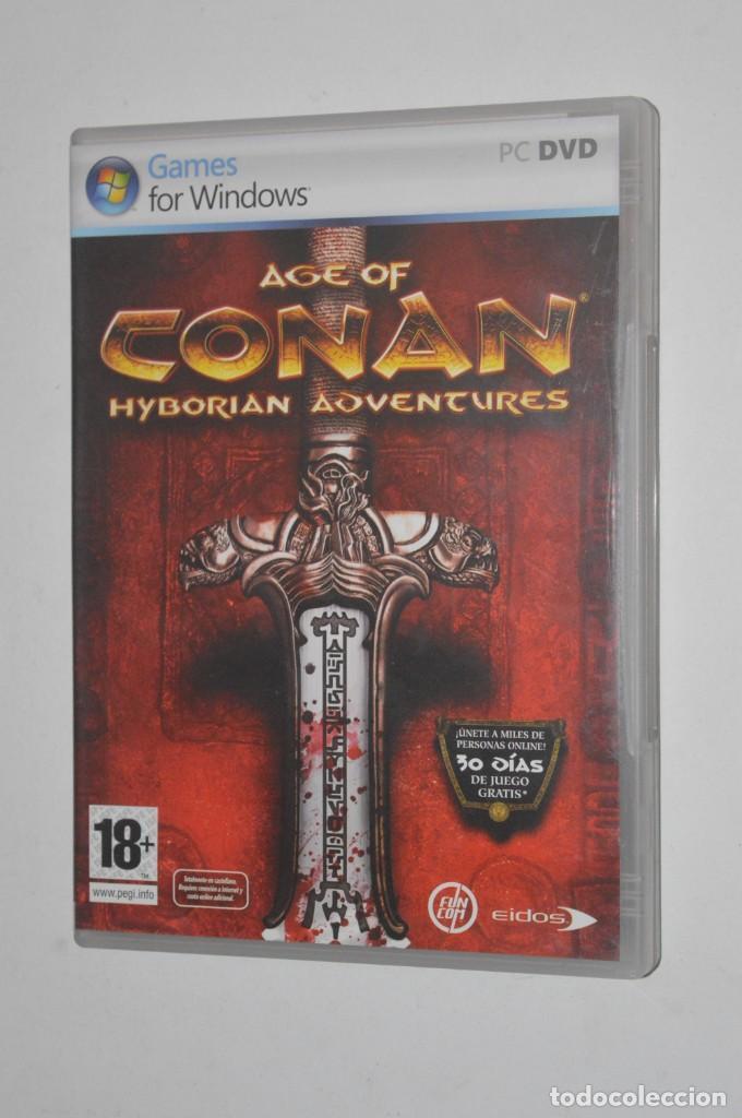 JUEGO PC AGE OF CONAN HYBORIAN ADVENTURES 2008 FUNCOM EIDOS ROL RPG ONLINE RODARÁN CABEZAS (Juguetes - Videojuegos y Consolas - PC)