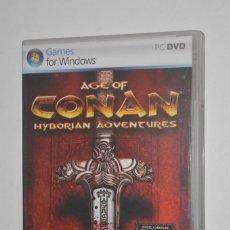 Videojuegos y Consolas: JUEGO PC AGE OF CONAN HYBORIAN ADVENTURES 2008 FUNCOM EIDOS ROL RPG ONLINE RODARÁN CABEZAS. Lote 144599102