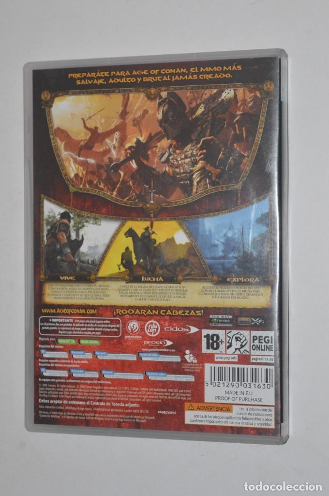 Videojuegos y Consolas: JUEGO PC AGE OF CONAN HYBORIAN ADVENTURES 2008 FUNCOM EIDOS ROL RPG ONLINE RODARÁN CABEZAS - Foto 3 - 144599102