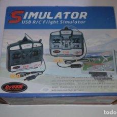 Videojogos e Consolas: JUEGO PC SIMULATOR USB R/C FLIGHT SIMULATOR SIMULADOR AVIONES AVIACIÓN DYNAM HIGH QUALITY RC PRODUCT. Lote 144613866