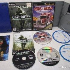 Videojuegos y Consolas: CALL OF DUTY 4 MODERN WARFARE, KING OF ROAD, SWAP MAGIC PS2, SOCOM II, TOMB RAIDER. Lote 194633043