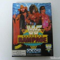 Jeux Vidéo et Consoles: WWF EUROPEAN RAMPAGE / - JUEGO IBM PC RETRO - EN CAJA DE CARTÓN - BIG BOX - EN DISKETTES. Lote 145522674
