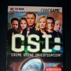Videojuegos y Consolas: CSI CRIME SCENE INVESTIGATION VIDEOGAME 1ª EDICIÓN 2003 VIDEOJUEGO C.S.I. PC COMPLETO. Lote 146705618