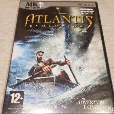 Videojuegos y Consolas: ATLANTIS EVOLUTION / THE ADVENTURE COMPANY / PC-CD ROM / INCLUYE 4 CDS / BUENA CALIDAD.. Lote 146731510