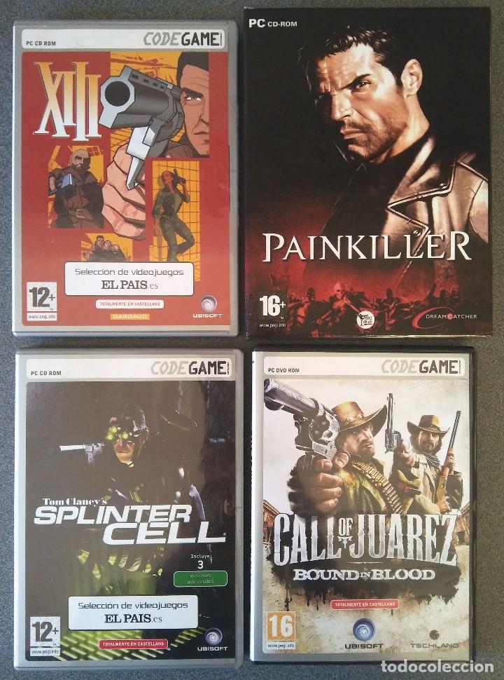 LOTE JUEGOS PC XIII PAINKILLER SPLINTER CELL CALL OF JUAREZ (Juguetes - Videojuegos y Consolas - PC)