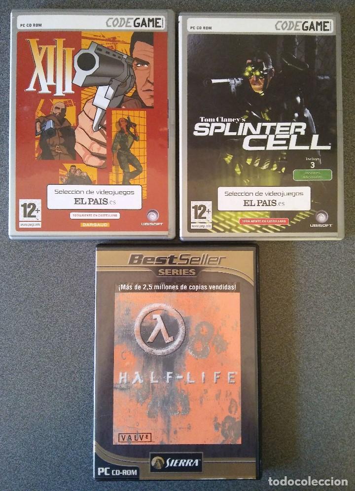 LOTE JUEGOS PC XIII SPLINTER CELL HALF LIFE (Juguetes - Videojuegos y Consolas - PC)