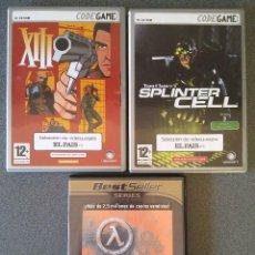 Videojuegos y Consolas - Lote juegos Pc XIII Splinter Cell Half Life - 147352766