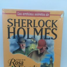 Videojuegos y Consolas: CAJA VACIA SHERLOCK HOLMES CASO ROSA TATUADA - JUEGO PC NO CD. Lote 147369490