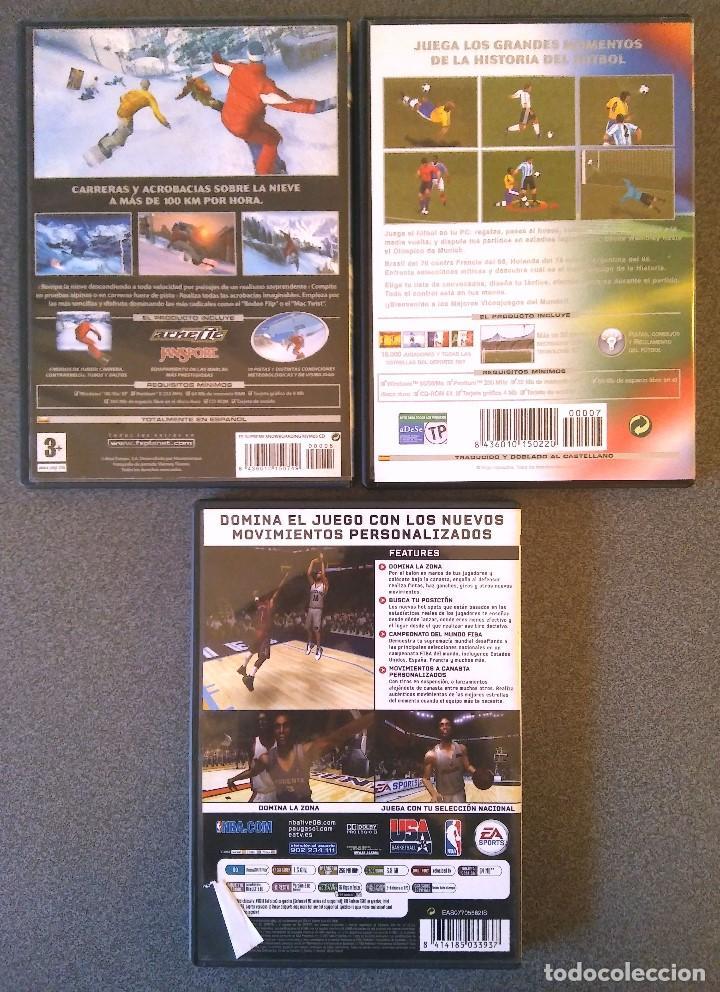 Videojuegos y Consolas: Lote juegos Pc Supreme Snowboarding Viva Football NBA Live 08 - Foto 2 - 147769122