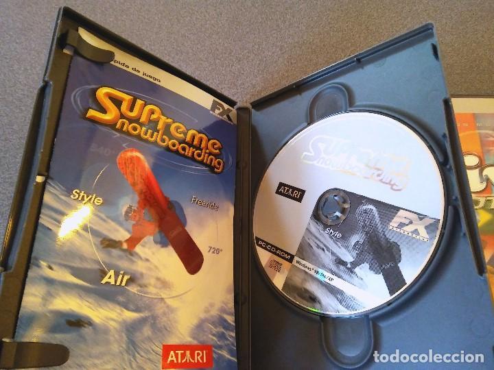 Videojuegos y Consolas: Lote juegos Pc Supreme Snowboarding Viva Football NBA Live 08 - Foto 3 - 147769122