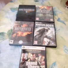 Videojuegos y Consolas: LOTE DE 5 JUEGOS DE PC,BATTLEFIELD 4 DELUX EDITION,THE WITCHER 2 ,WATCH-DOGS,BATTLEFIELD 1942...... Lote 147780474