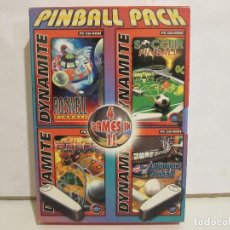 Videojuegos y Consolas: PINBALL PACK - 4 GAMES IN 1 - 2 X CD - BOX - PC - DOLBY SURROUND - NM+/EX+. Lote 147789630