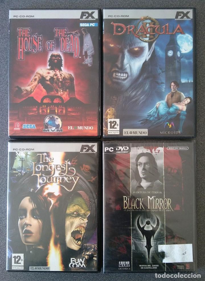 LOTE JUEGOS PC HOUSE OF THE DEAD DRÁCULA II THE LONGEST JOURNEY BLACK MIRROR (Juguetes - Videojuegos y Consolas - PC)