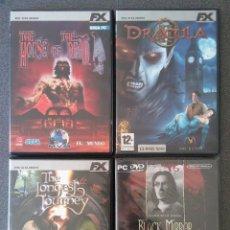 Videojuegos y Consolas: LOTE JUEGOS PC HOUSE OF THE DEAD DRÁCULA II THE LONGEST JOURNEY BLACK MIRROR. Lote 148058222