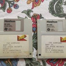 Videojuegos y Consolas: JUEGO PC THE SIMPSONS BART VS. THE SPACE MUTANTS. 2 DISCOS 3 1/2 ERBE. Lote 148548920