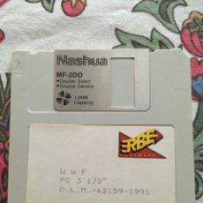 Videojuegos y Consolas: JUEGO PC WWF ERBE. 1991 DISCO 3 1/2. Lote 148549956