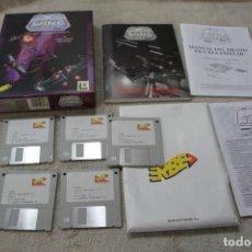 Videojuegos y Consolas: STAR WARS X WING SIMULADOR DE COMBATE ESPACIAL PC BOX CAJA CARTON DISKETTES 3 1/2. Lote 149739494
