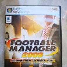 Videojuegos y Consolas: PC CD-ROM FOOTBALL MANAGER 2009 MITRE ZOO-INCLUYE 3D MATCH VIEW -JUEGO DE ORDENADOR SEGA WINDOWS. Lote 150225830