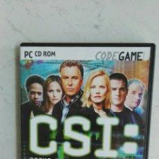 Videojuegos y Consolas: CSI CRIME SCENE INVESTIGATION PC AVENTURA GRÁFICA. Lote 150677300