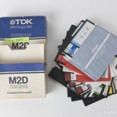 Videojuegos y Consolas: ANTIGUOS DISCOS DE 5 1/4 CON 16 DISCOS DE JUEGOS_2. Lote 151061006