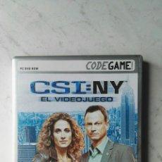 Videojuegos y Consolas: CSI:NY PC AVENTURA GRÁFICA. Lote 151583062