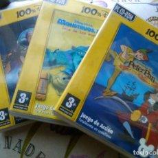 Videojuegos y Consolas: 3 JUEGOS DISNEY PC CD-ROM TOY STORY 2, MONSTRUOS SA Y AVENTURAS PETER PAN. Lote 151613150
